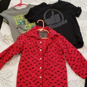 Other - Bundle of 4 boys shirts sz 4-5 or xs